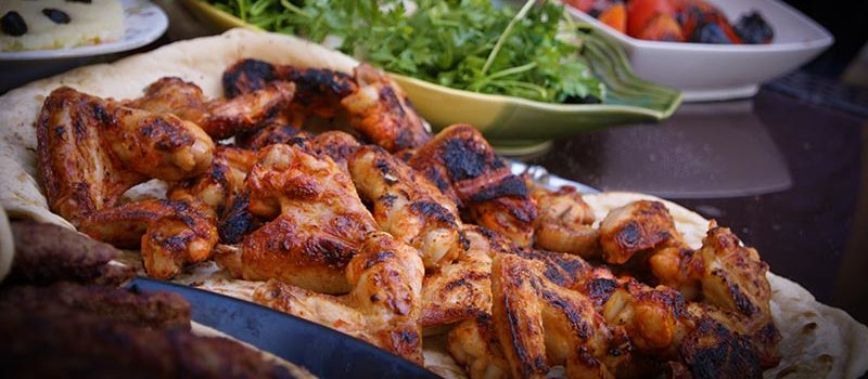 chicken wings football catering